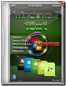 Windows 7 SP1 18in1 Activated Update by m0nkrus (AIO/x86/x64/RUS/ENG)