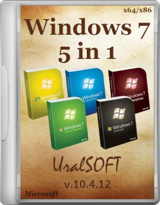 Windows 7 UralSOFT 5 in 1 v 10.4.12 (x86/x64/2012/RUS))