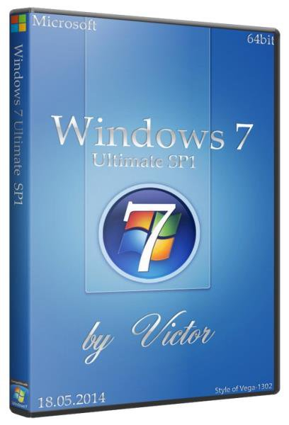 Windows 7 SP1 Ultimate x64 7601  by Victor (2014/RUS/MULTI)