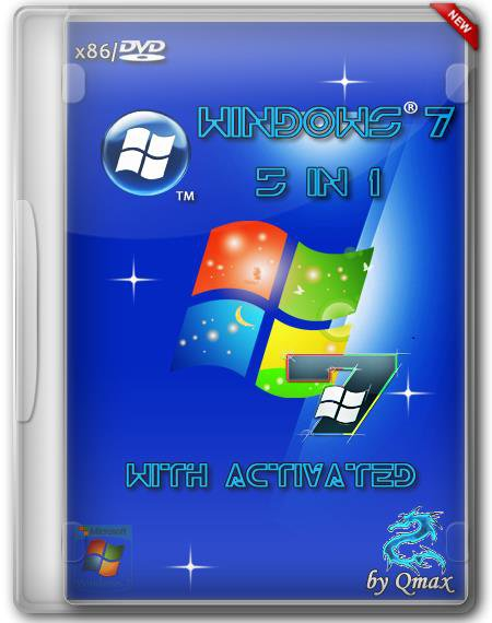 Windows 7 SP1 x86 27.05.2014 5 in 1 with Activated by -=Qmax=- (RUS/2014)