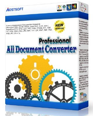 Aostsoft All Document Converter Professional 3.9.4